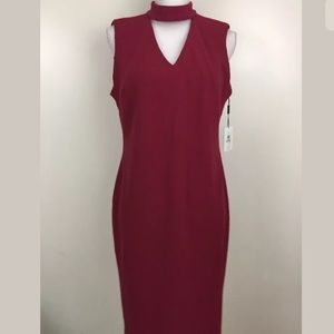 NEW $134 Calvin Klein Raspberry midi dress size 12